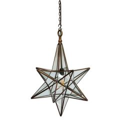 Antique Copper Venus Star Pendant