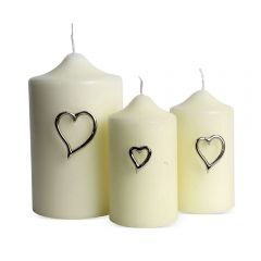 Set Of Three Heart Candle Pins - Pre-order - Due Mid February