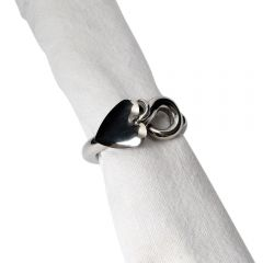 Single Heart Napkin Ring - Unboxed