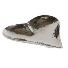Small Champagne Hammered Heart Dish
