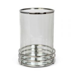Large Gatsby Hurricane with Stainless Steel Base