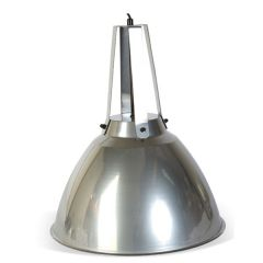 Domed Industrial Hanging Light - Dull Chrome