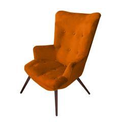 Josephine Velvet Burnt Orange Chair - Made To Order