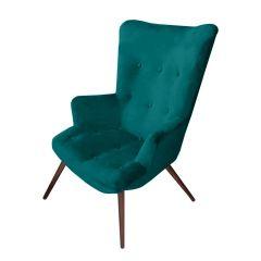 Josephine Velvet Jade Green Chair - Made To Order