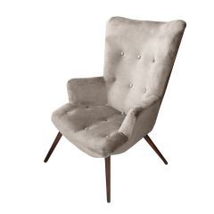 Josephine Velvet Silver Grey Chair - Made To Order