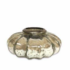 NEW! Large Casablanca Tea Light Holder - Antique Silver