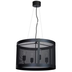 Black Drum 4 Bulb Chandelier