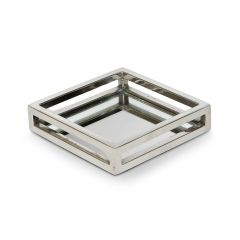 Mini Square Cut Out Tray with Stainless Steel Base