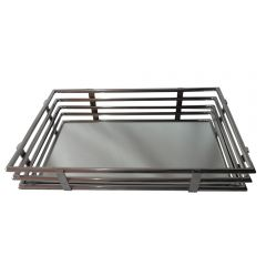 Large Gatsby Rectangular Tray with Stainless Steel Base