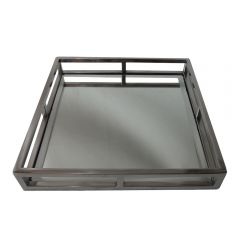 Small Square Cut Out Tray - Stainless Steel Base