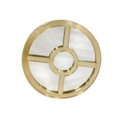 NEW! Apollo Round Mirror - Gold Finish