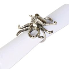 Set of Four Octopus Napkin Rings - Pre-order - Due Early September