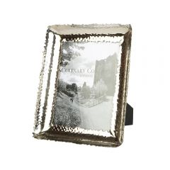 Large Photo Frame - Champagne Hammered