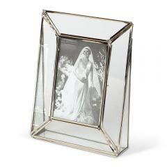 NEW! Small Art Deco Glass Photo Frame