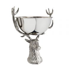 Small Punch Bowl with Stag Stand