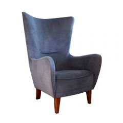 NEW! Dark Grey Romeo Chair with Dark Brown Wood