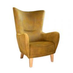 NEW! Mustard Green Romeo Chair with Natural Beechwood Feet