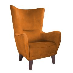 Romeo Velvet Orange Chair