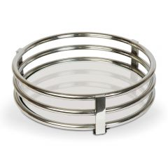 NEW! Circular Gatsby Tray with Stainless Steel Base