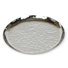 Large Hammered Round Plate