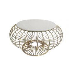 Solar Marble Top Coffee Table - Gold Finish