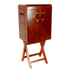 NEW! Large Panama Bar Cabinet - Cognac