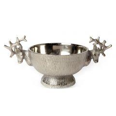 Medium Stag Aluminium Bowl