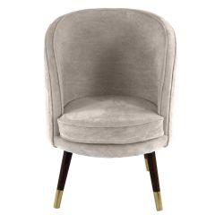 Sloane Velvet Silver Grey Chair