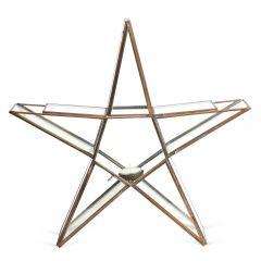 Medium Standing Star Tealight Holder - Copper
