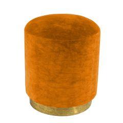 NEW! Velvet Burnt Orange Small Stool