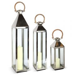 Large, Medium & Small Tall Venetian Lantern Set