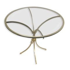 NEW! Eris Glass Top Round Coffee Table - Gold Finish