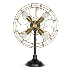 Sirius Antique Brass Fan Table Lamp