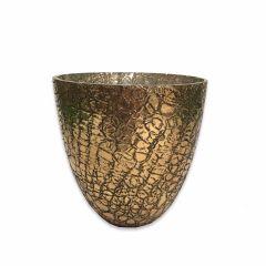 Medium Crackle Glaze Seville Candle Holder- Antique Copper