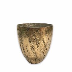 NEW! Small Crackle Glaze Seville Tea Light Holder - Antique Copper