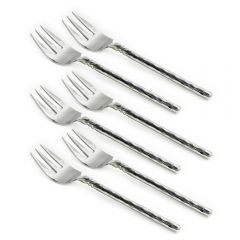 Set of Six Twist Neck Fish Forks - Handmade To Order
