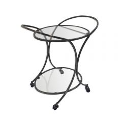 NEW! Dorchester Oval Drinks Trolley - Antique Silver