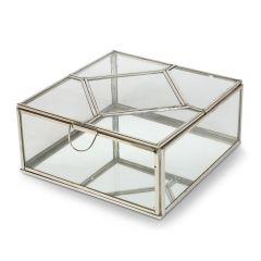 NEW! Large Art Deco Trinket Box with Mirror Base