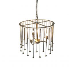 NEW! Helios Chandelier - Gold Finish