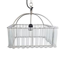 Pasteur Square Test Tube Chandelier - Pre-order - Due Late September