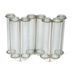 W-Shaped Glass Test Tube Table Vase