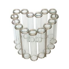 Heart Shaped Test Tube Table Vase