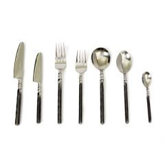 Unpolished Twist Neck 56 Piece Cutlery Set - Handmade To Order