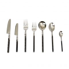 Unpolished Twist Neck Seven Piece Place Setting - Handmade To Order