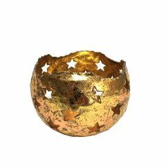 NEW! Medium Starry Tea Light Holder - Gold
