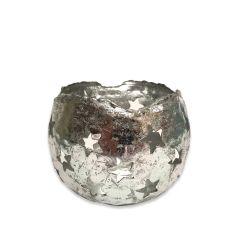 NEW! Medium Starry Tea Light Holder - Silver