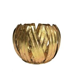Small Gold Pumpkin Votive