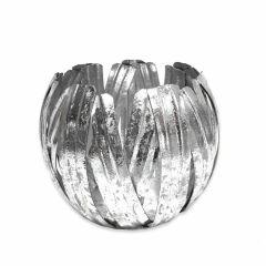 Large Silver Pumpkin Votive