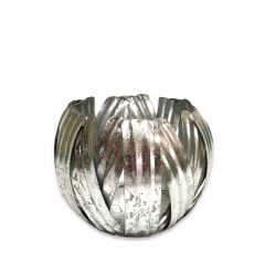 Small Silver Pumpkin Votive