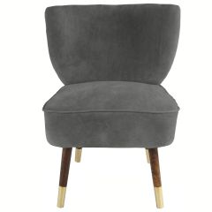 Westbury Velvet Dark Grey Chair